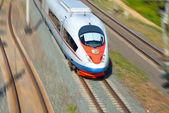 Pociągi dużych prędkości w ruchu — Zdjęcie stockowe