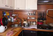 Kitchen with utensils — Stock Photo