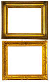 Two gold frames. — Stock Photo