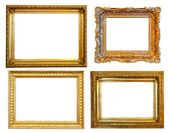 4 gold frames — Stockfoto