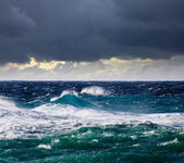 High sea wave during storm — Stock Photo