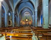 Interior de la iglesia católica — Foto de Stock