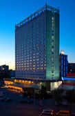 Night Novosibirsk city — Stockfoto