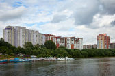Residential district at Novosibirsk city — Stock Photo