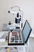 Medical tools in ophthalmologist room — Stock Photo