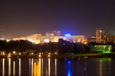 Novosibirsk from riverside in night — Stock Photo