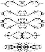 Floral design elements vector — Stock Vector