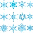 Royalty-Free Stock Vectorielle: Snowflakes