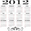 2012 year calendar template — Stock Vector