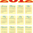 2012 year calendar template - Stockvectorbeeld