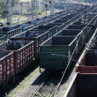 Big cargo station on the railroad — Stock Photo