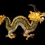 Metal dragon with crystals (souvenir) — Stock Photo #7729286