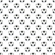 Stock Photo: Black and white soccer ball