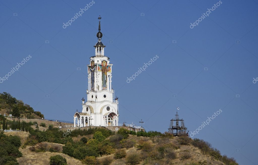 The Orthodox Church devoted to the lost ships — Stock Photo #6937567