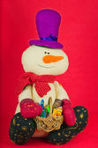 Christmas decoration as snowman — Stock Photo