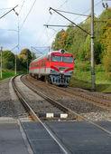 Train on a railway — Stock Photo