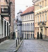 Vilnius oldtown street — Stock Photo