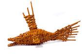 Рыба сувенир ручной работы из дерева — Стоковое фото