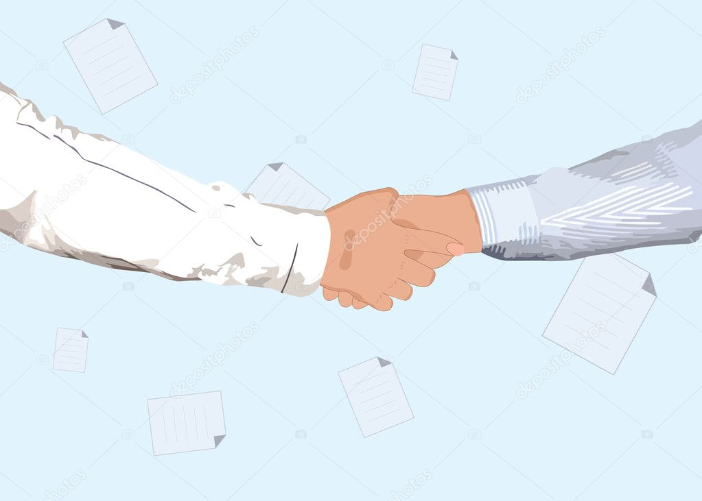 Partnership handshake for business or another concept design — Stock Vector #7180835