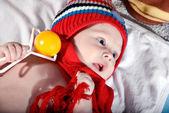 Bright portrait of beautiful baby — Stock Photo