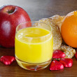 Stock Photo: Juice,apple and orange