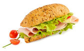 Sandwich isolated on white — Stock Photo