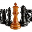 Chess isolated on white background — Stock Photo