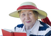 Mujer senior feliz — Foto de Stock