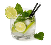 Mojito cocktail on white background — Stock Photo