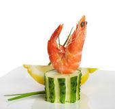 Tiger shrimps isolated on white — Stock Photo