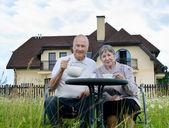 Happy senior man and woman — Stock Photo