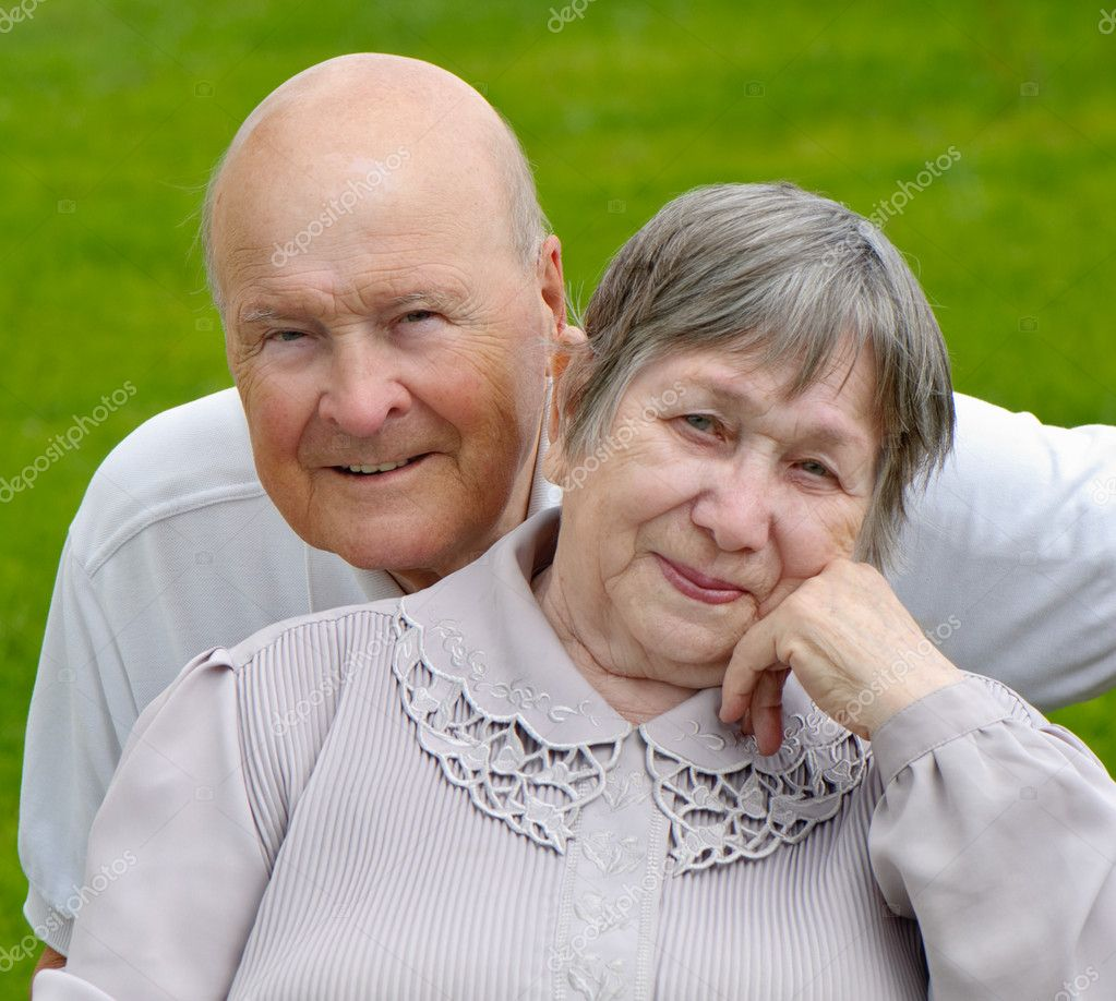 Portrait of a happy senior man and  woman  Stock Photo #7172856