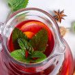 Fruit drink in jug .Closeup — Stock Photo #7198638