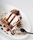 Cake on a plate — Stock Photo