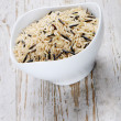 Blend of wild and whole grain brown rice — Stock Photo