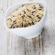 Stock Photo: Blend of wild and whole grain brown rice