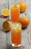 Suco de laranja e laranja — Foto Stock