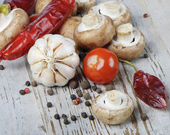 Champignons and vegetables — Stock Photo