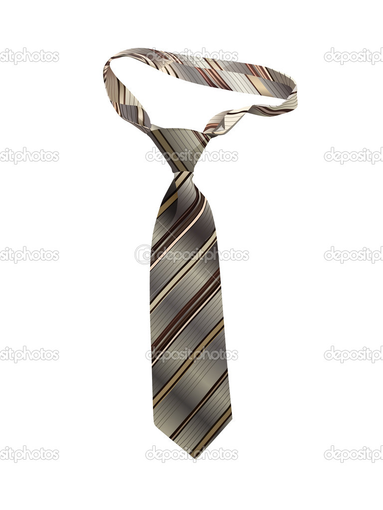 Necktie on a white background, vector — Stock Vector #7239449