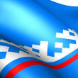 Yamalo-Nenets Autonomous Okrug flag — Stock Photo