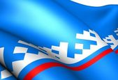 Yamalo-Nenets Autonomous Okrug flag — Stock Photo