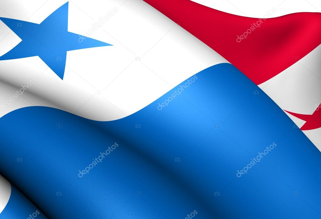 Flag of Panama. Close up.  — Stock Photo #6851477
