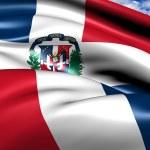 flagge der dominikanischen republik — Stockfoto