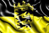 Flag of Baden-Wurttemberg — Stock Photo