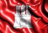 Bandera de hamburgo — Foto de Stock
