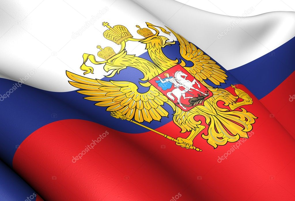 Flag of Russia. Close up.   Stock Photo #6921855