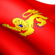 Flag of Aquitaine, France. — Stock Photo