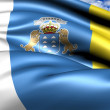 Stock Photo: Flag of Canary Islands