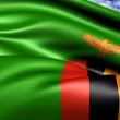 Stock Photo: Flag of Zambia