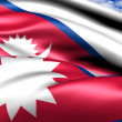 Flag of Nepal — Stock Photo #7312569